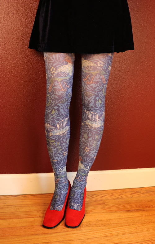 WILLIAM MORRIS l BIRD PRINTED TIGHTS