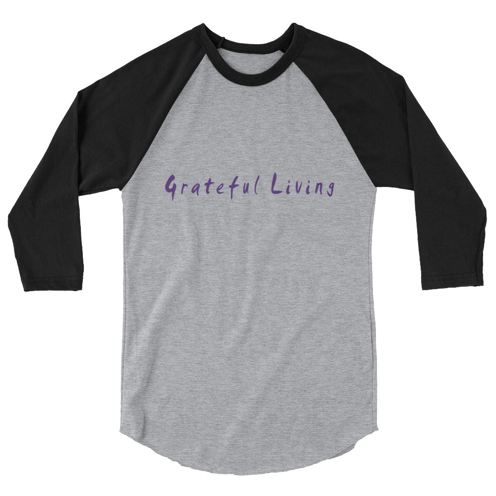 Grateful Living 3/4 Sleeve Raglan T-Shirt