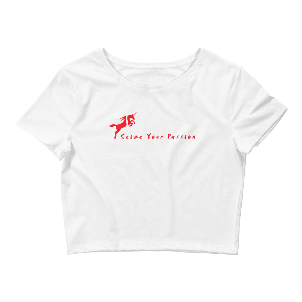 Seize Your Passion Unicorn Women's Crop Tee