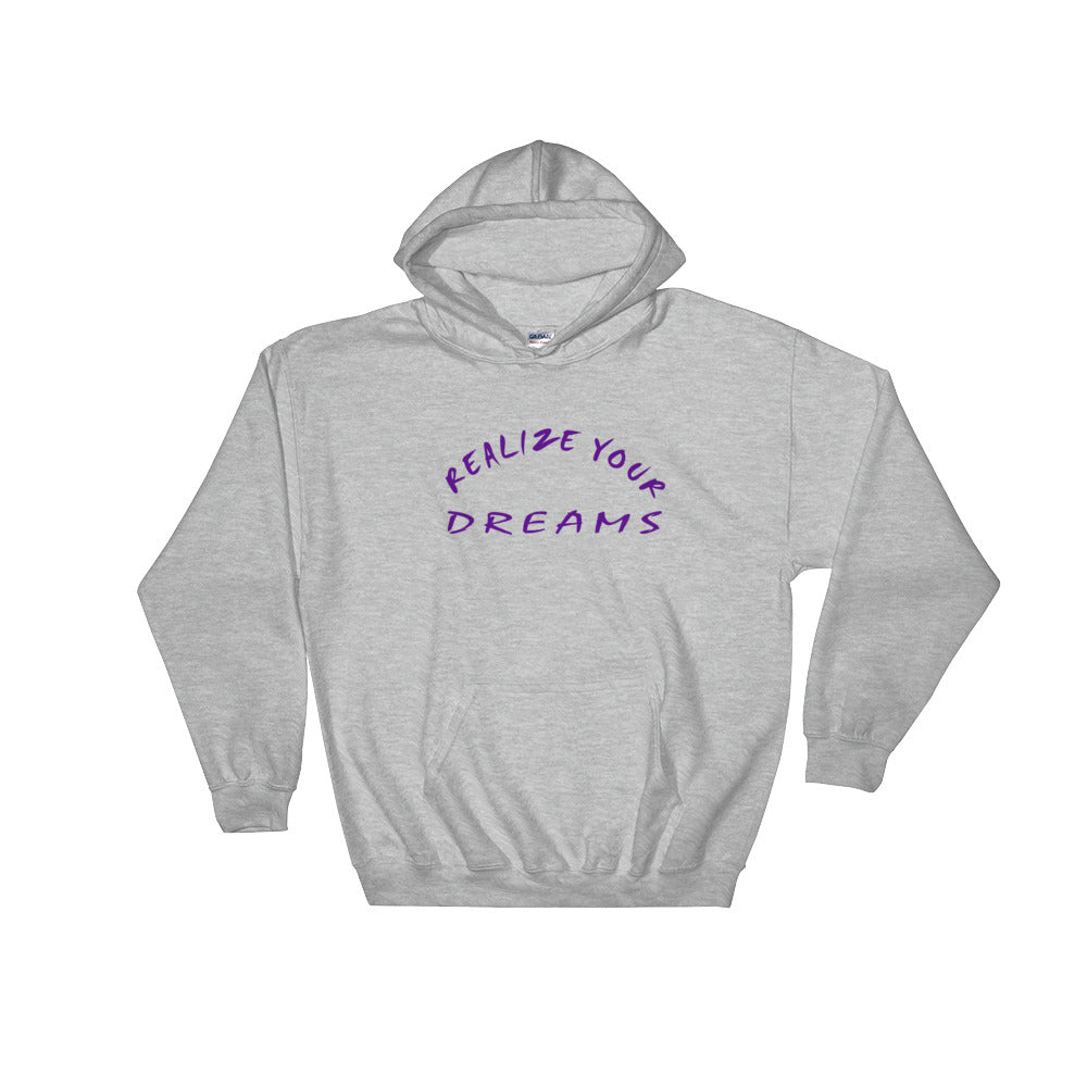 Realize Your Dreams Rounded Hooded Sweatshirt