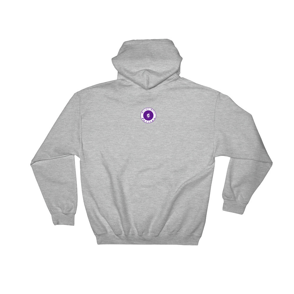 Seize Your Passion Rounded Overlay Hooded Sweatshirt
