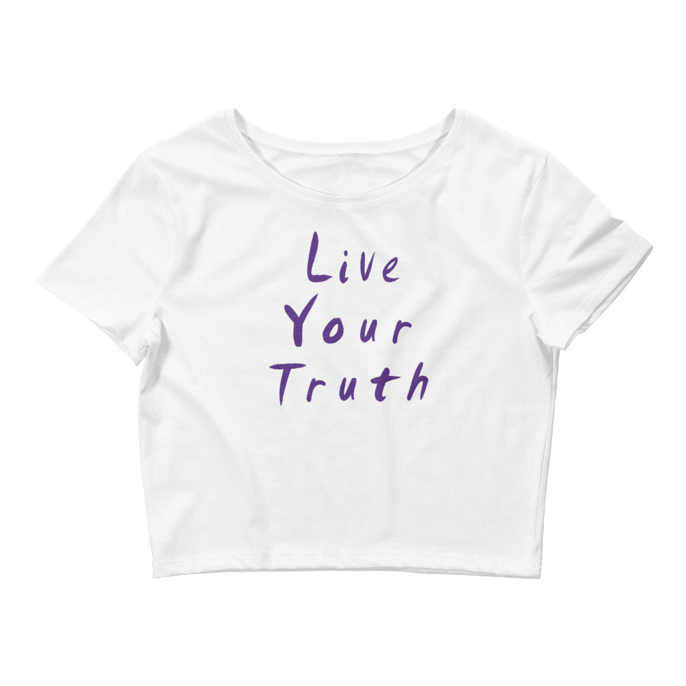 Live Your Truth Women's Crop Tee