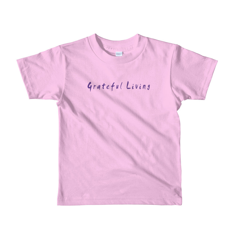 Grateful Living Short Sleeve Kids T-Shirt