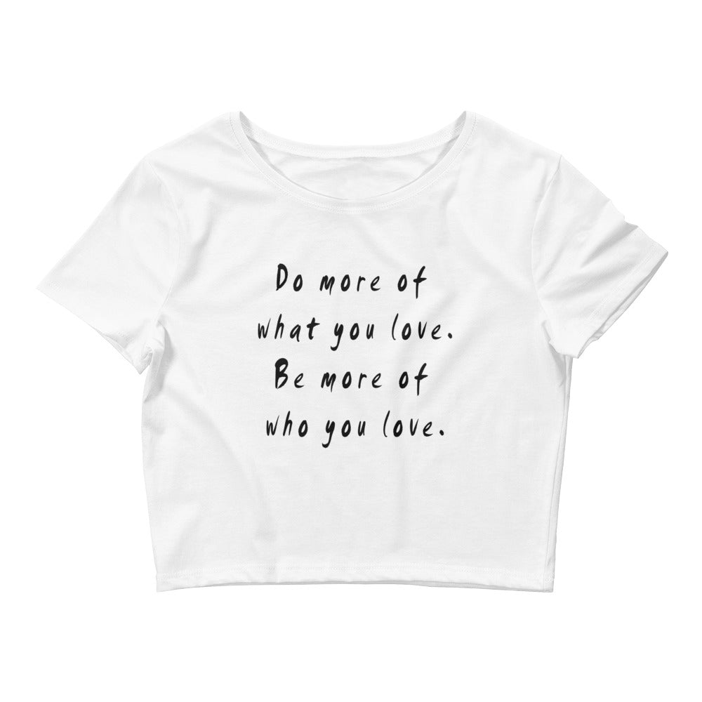 Do More Be More Women's Crop Tee