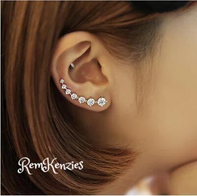 High Quality Super Shiny Zircon 925 Sterling Silver Stud