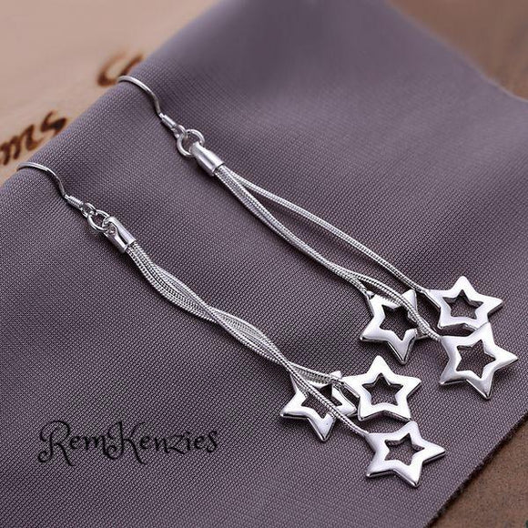 High Quality Triple Hollow Star Earrings