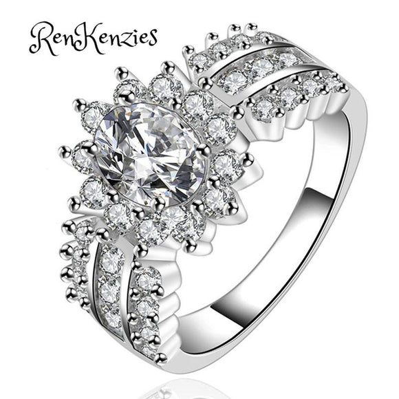 Crystal Silver CZ Band Ring