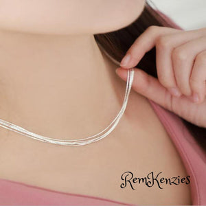 Superfine Multi-layer Snake Bone Necklace