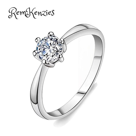 Classic Six Claws Design 1 Carat AAA Zircon Ring