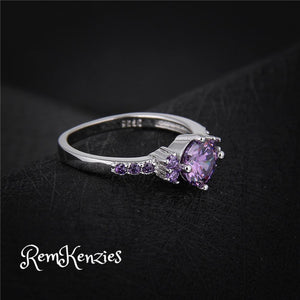 Mysterious Purple Austrian Crystal Rings