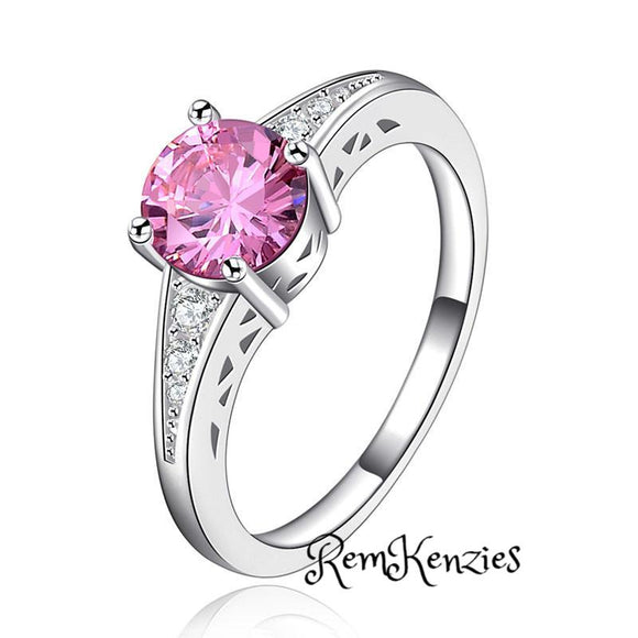 Cute Pink Austrian Crystal Ring