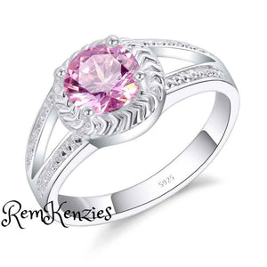 Simple Pink Crystal Wedding Ring RemKenzies