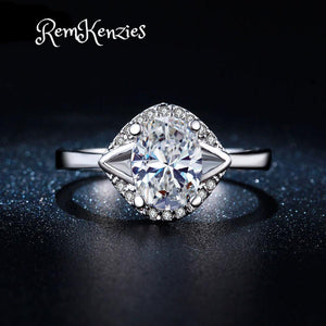 Luxury Crystal Engagement Rings