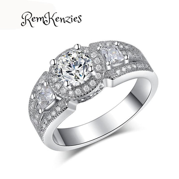 AAA Cubic Zirconia Fine 925 Sterling Silver Ring