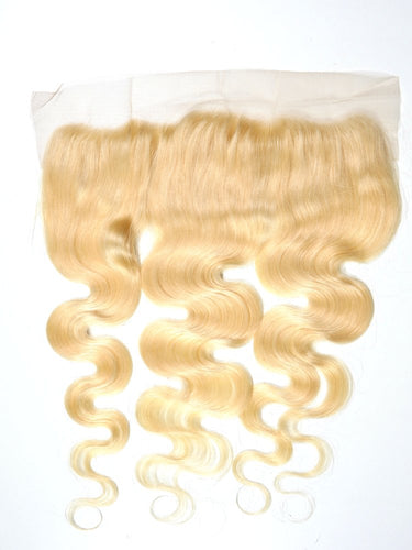 Russian Blonde Body Wave Frontal