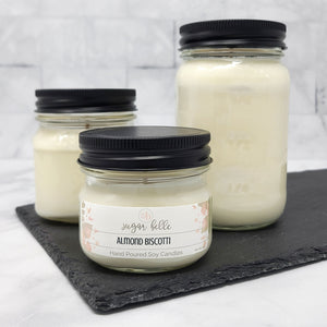 Almond Biscotti Scented Soy Candles | Mason Jars