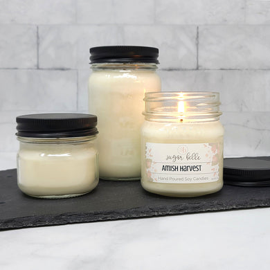 Amish Harvest Scented Soy Candles | Mason Jars