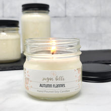 Autumn Flannel Scented Soy Candles | Mason Jars