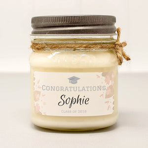 personalized graduation candles