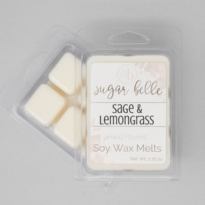 sage and lemongrass scented wax cubes