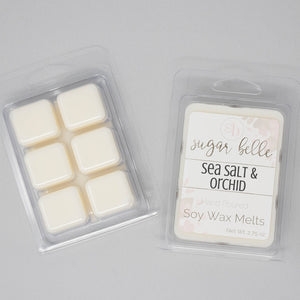 sea salt and orchid scented wax cubes