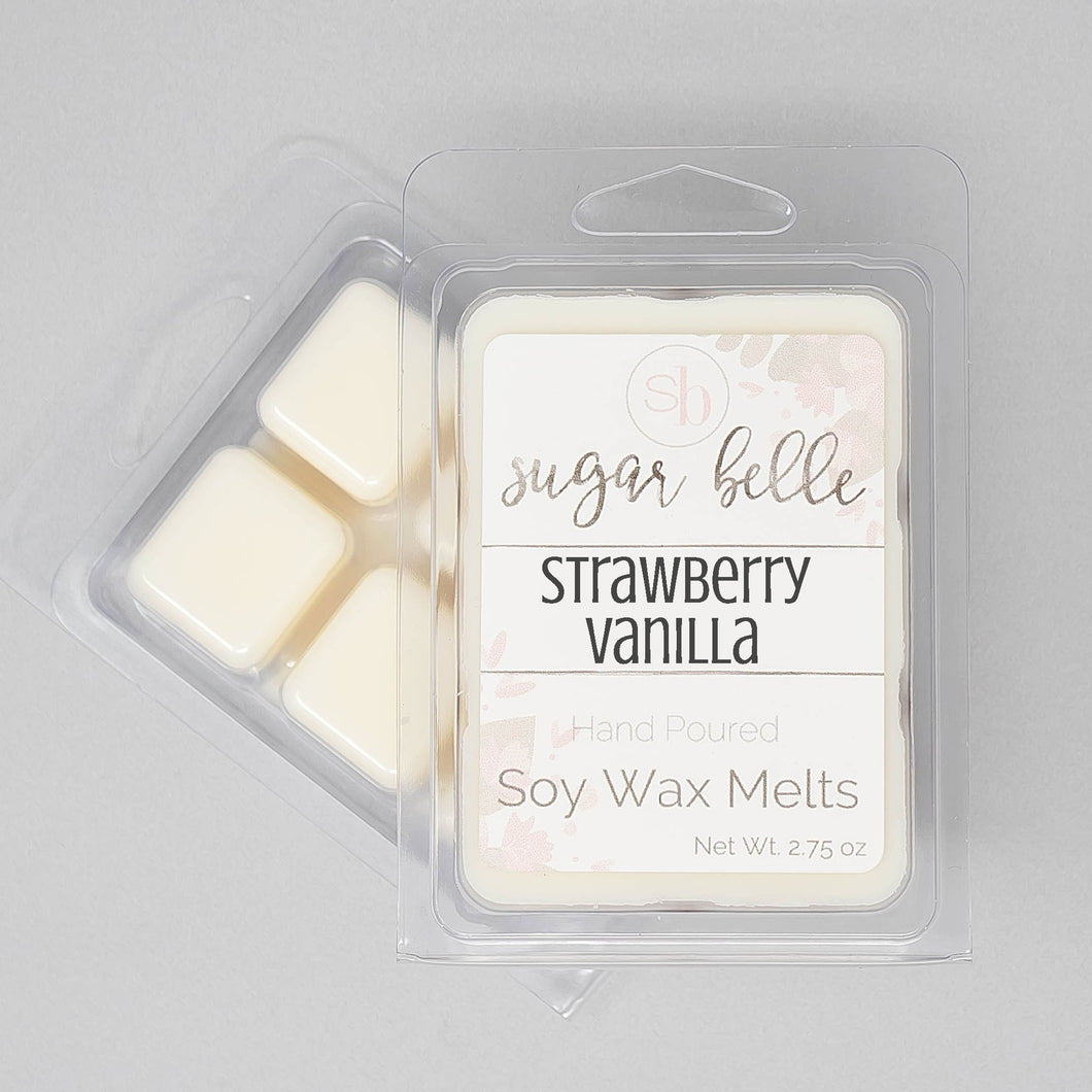 Strawberry Vanilla Scented Soy Wax Melts