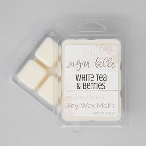 white tea and berries soy wax melts