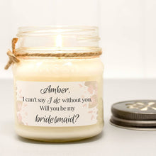 personalized bridesmaid proposal candle
