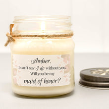 candles for maid of honor proposal