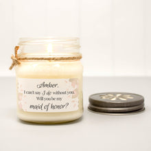 maid of honor mason jar candle