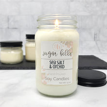 Sea Salt & Orchid Scented Soy Candles | Mason Jars