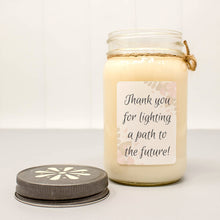 teacher appreciation candle