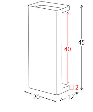 Teer Umbrella Stand (Rectangular)