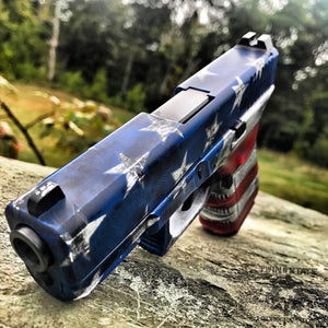 cerakote American flag battleworn red white blue Glock