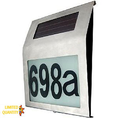 CLEARANCE Stainless Steel Illuminated House Number (Cool White)