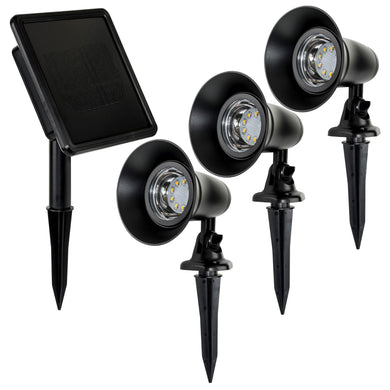 Garden Spot Light Kit with Remote Solar Panel