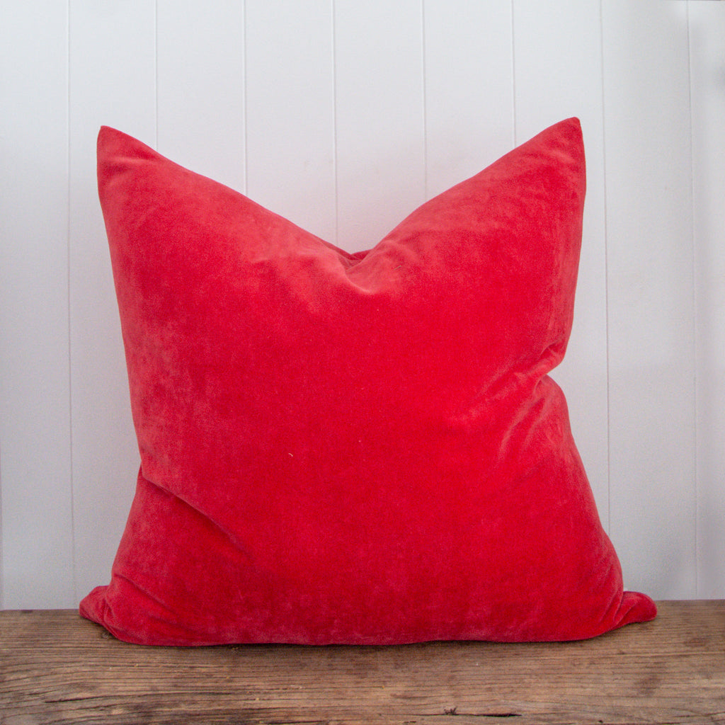 VELVET CUSHION / RED