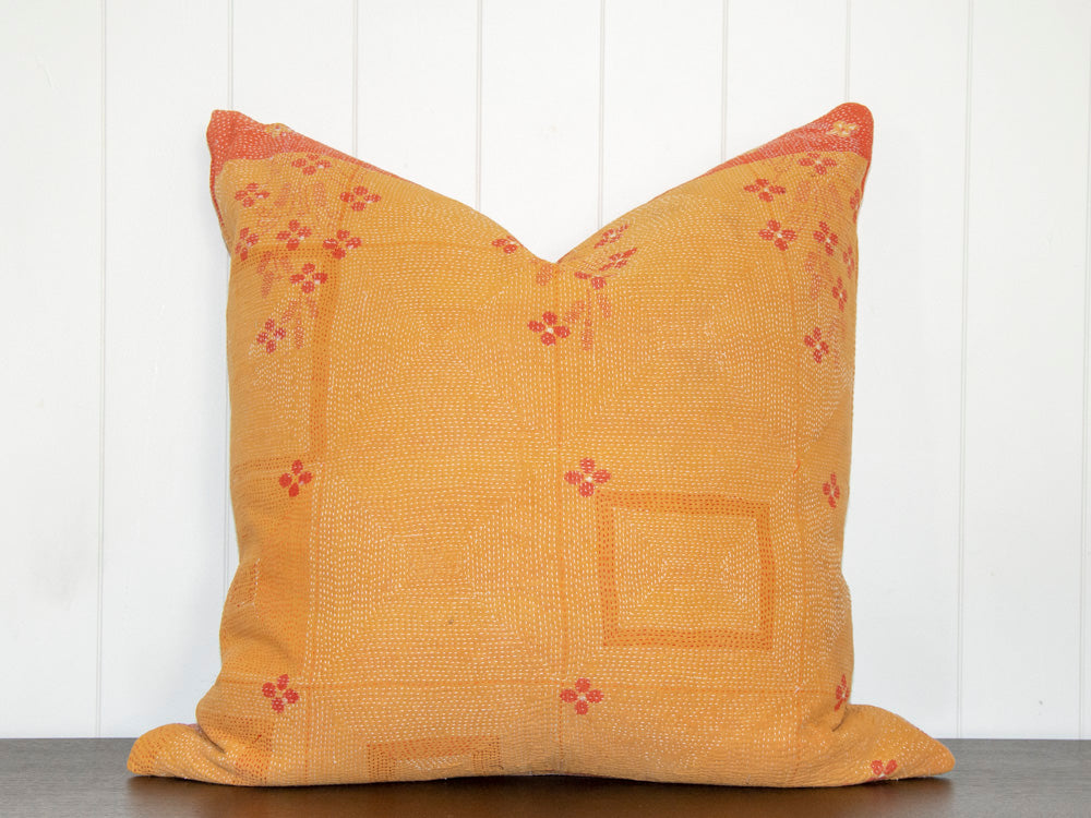 KANTHA CUSHION / MARIGOLD