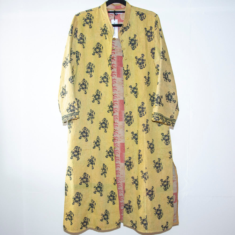 KANTHA COAT / YELLOW