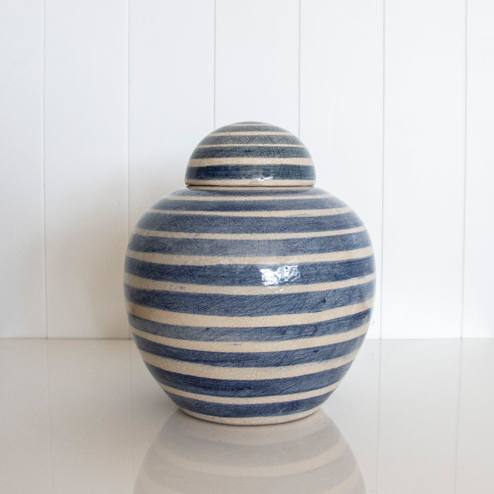 GINGER JAR / FRENCH BLUE STRIPE