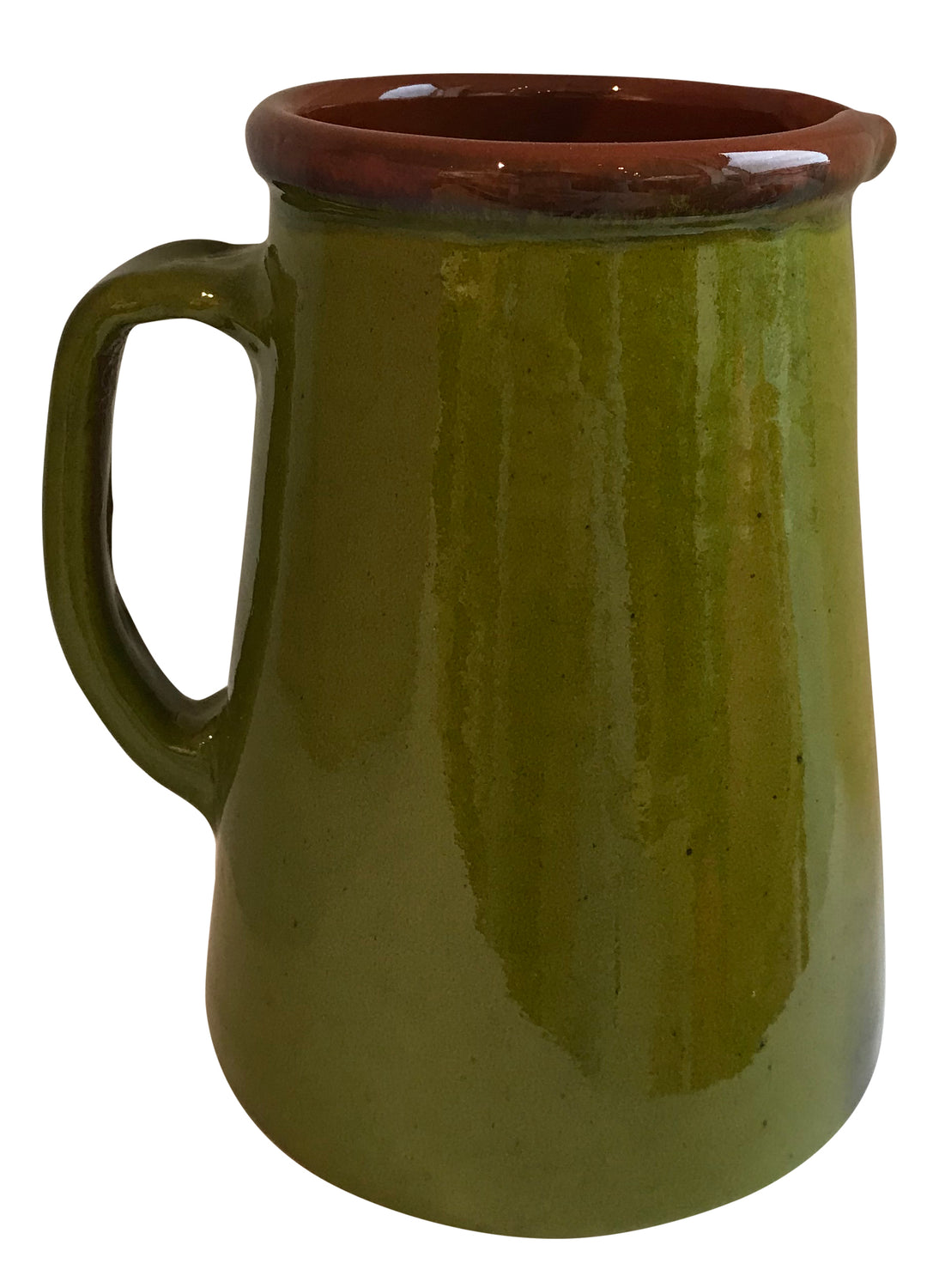 From the region of Catalonia, Spain comes this beautiful, authentic Pistachio Spanish Jug