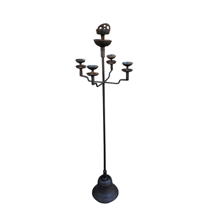 ANTIQUE IRON CANDLESTICK