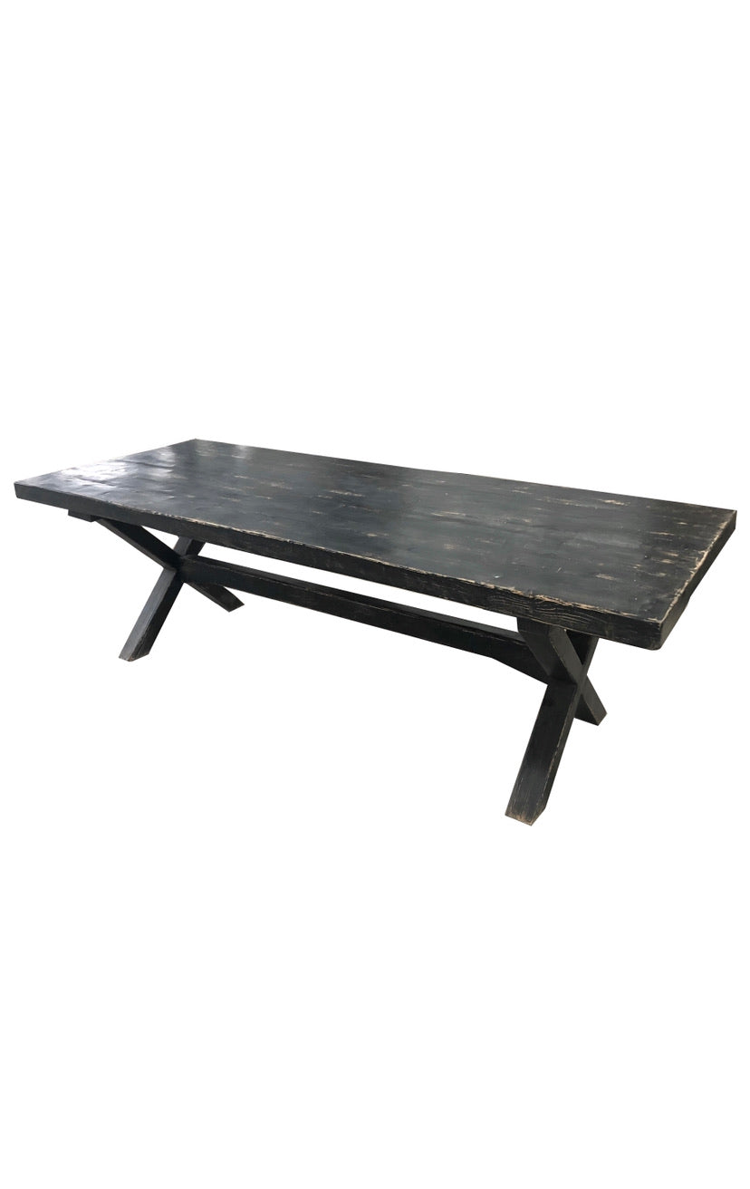 ELM DINING TABLE | BLACK | 2.5m