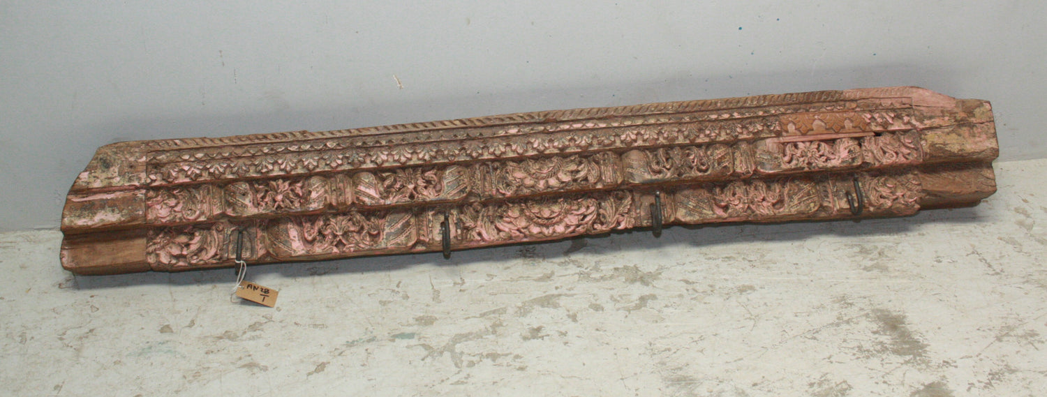 VINTAGE CARVED PANEL W HOOKS