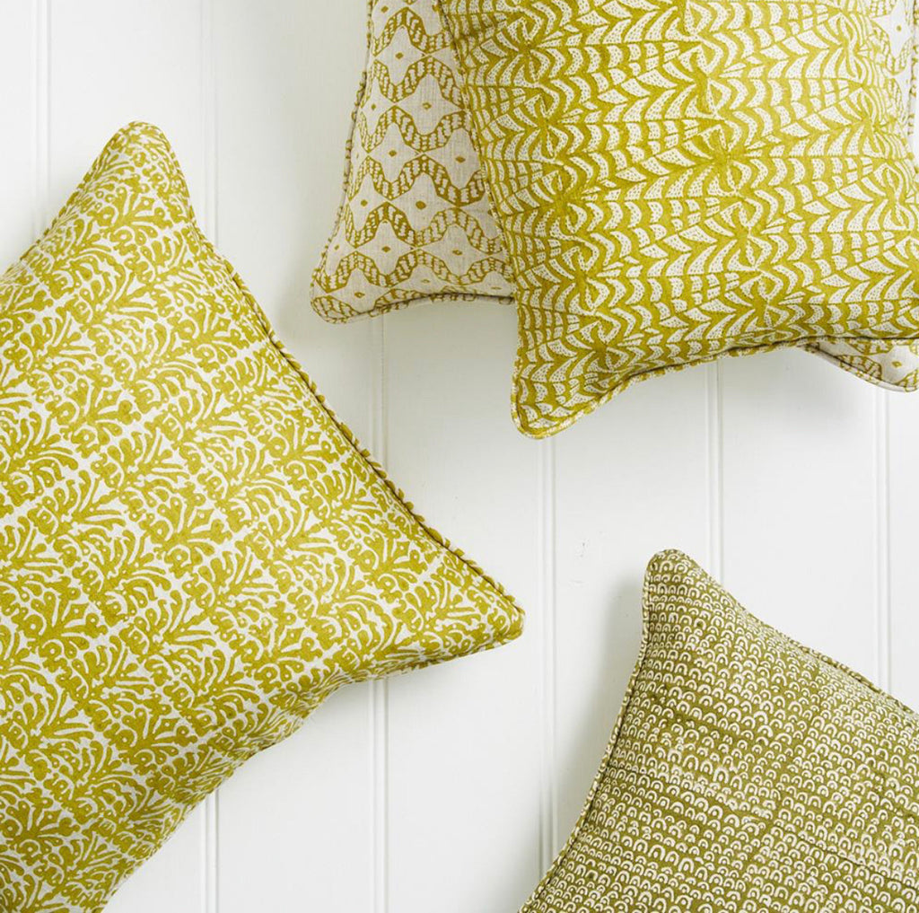 ANJUNA PISTA LINEN BLOCK PRINT CUSHION