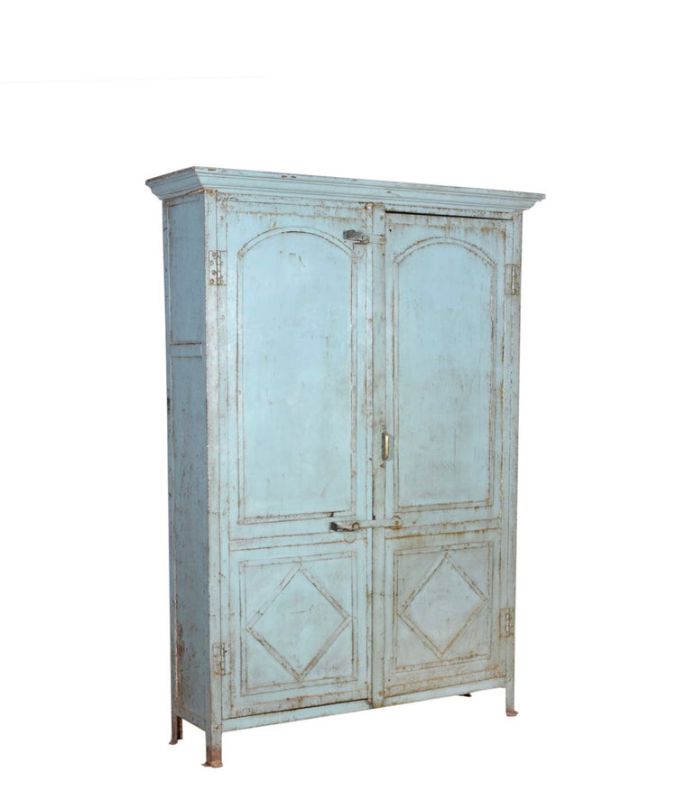 VINTAGE INDIAN IRON CABINET
