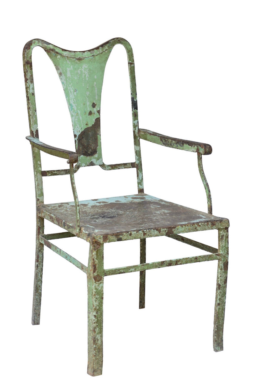 VINTAGE INDIAN  IRON CHAIR