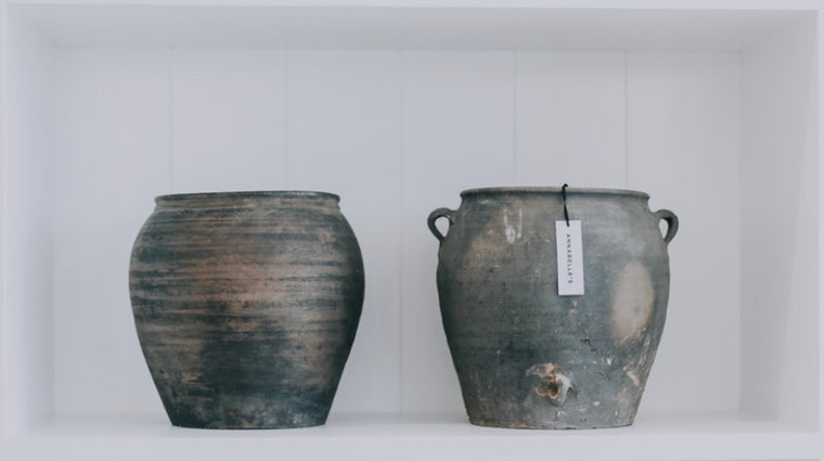 ANTIQUE GREY URN