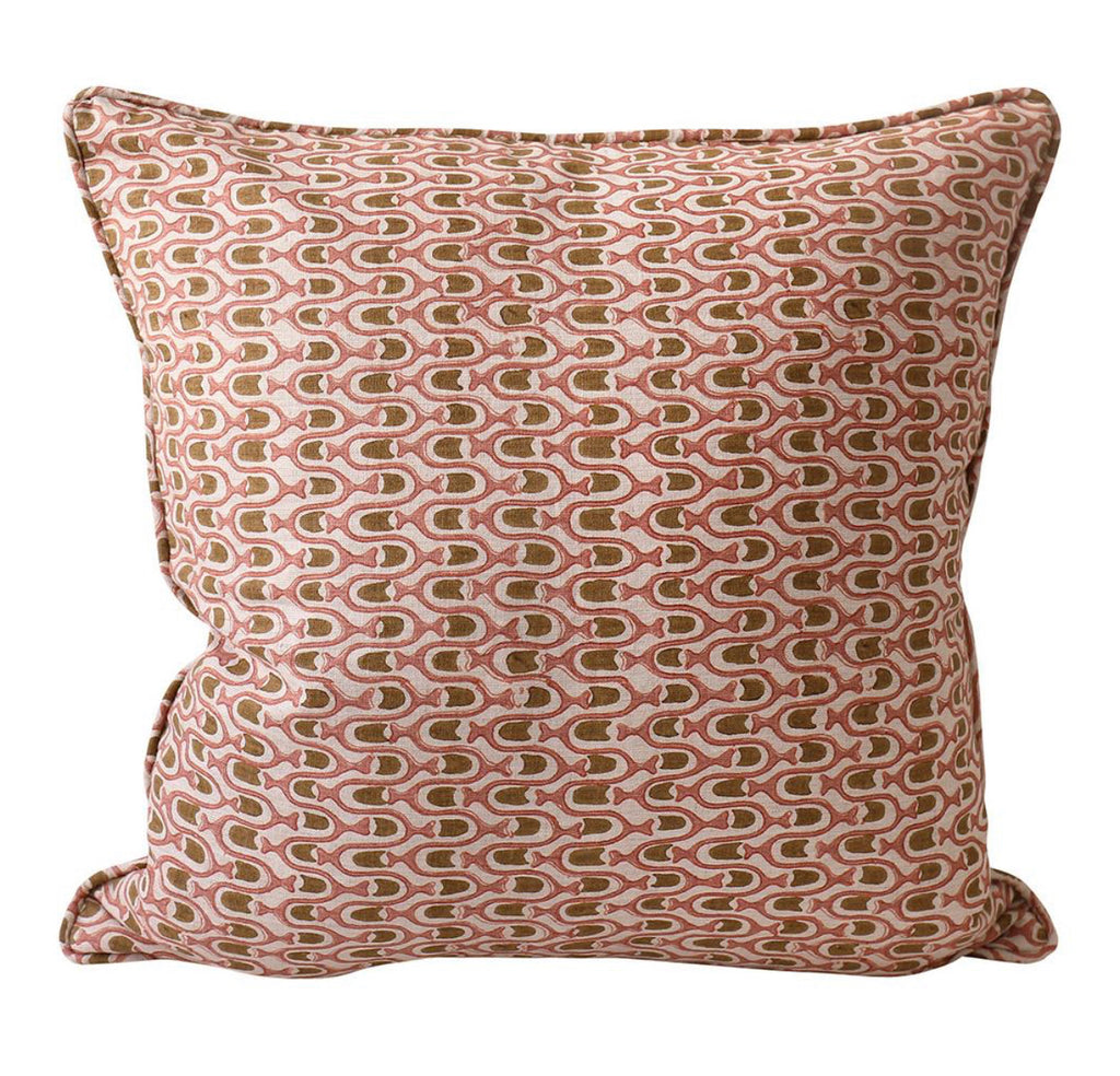 TAPPAN MUSK LINEN BLOCK PRINT CUSHION