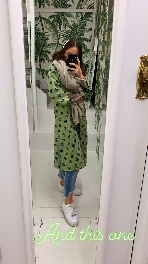 KANTHA COAT / GREEN